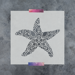 Reusable Stencils of a Starfish in Small /& Large Sizes Starfish Stencil