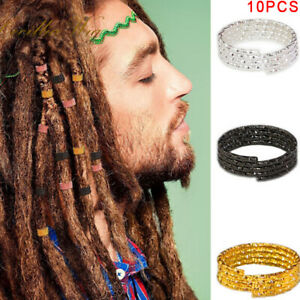 10pcs-Hair-Braid-Dreadlock-Beads-Cuffs-Rings-Tube-Hoop-Circle-Accessories-Nd