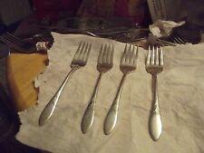 Oneida Com Lady Hamilton Silver Plate Flatware Silverware 4 Salad Forks