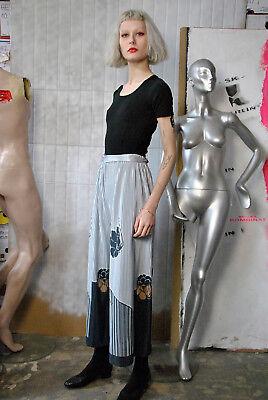 Costante Serranda Pantaloni Rock Culotte Pantaloni Rock 90er True Vintage 90s Woman Trousers-mostra Il Titolo Originale Piacevole Nel Dopo-Gusto