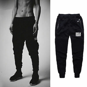 2d25905d779 Men Training Gym Sweatpants Baggy Pants Jogger Casual Trousers ...