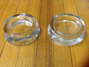 Vintage Stromberg Swedish matching set of art glass Bowls - Signed