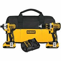 DeWALT DCK283D2 XR Brushless Compact Drill/Driver & Impact Driver Combo Kit - Manufacturer Refurbished