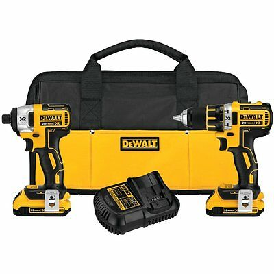 DeWALT DCK283D2R XR Brushless Compact Drill/Driver & Impact Driver Combo Kit