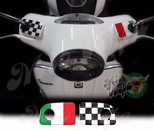 Italian-flag-S-Handlebar-pump-covers-overlay-3D-Decals-sticker-Vespa-GTs-250-300