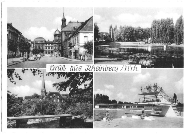 AK, Rheinberg N'rh., vier Abb., um 1955