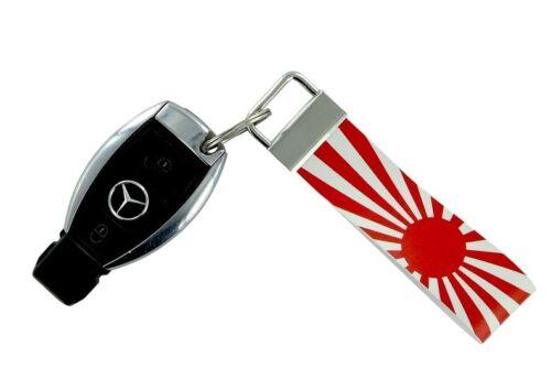 Keychain stripe key lanyard flag ring car jdm band remote japan rising sun