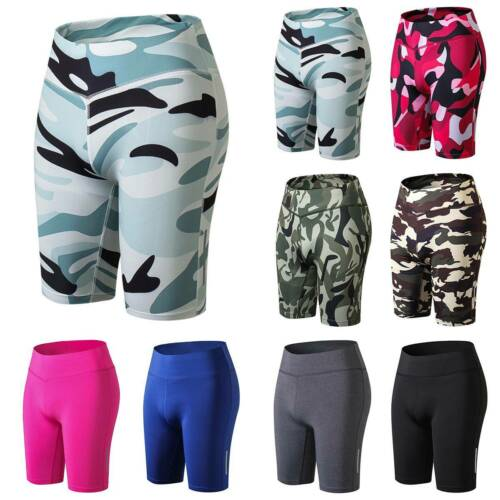 Ladies Men Unisex Cycling Shorts Gym Pants Running Active Biker Yoga Trousers