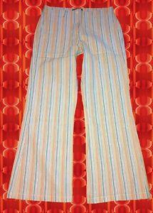 241-40-groovy-Streifenhose-60er-70er-Jahre-Hippie-Schlager-Festival-blau-Gr-40