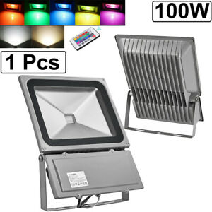 Details About 100w Rgb Led Flood Lights Waterproof Outdoor Color Changing Led Security Light