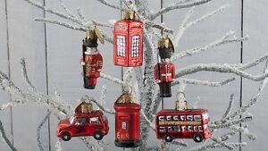 Christbaumkugeln Anhänger.London 6 Stück Glas Anhänger Christbaumschmuck Christbaumkugeln Bus
