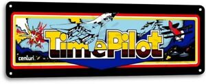 Time-Pilot-Classic-Cenluri-Arcade-Marquee-Game-Room-Wall-Decor-Metal-Tin-Sign