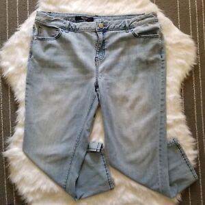 Simply-Vera-Wang-Denim-Womens-Plus-Size-16-Stretchy-Mid-Rise-Capri-Jeans