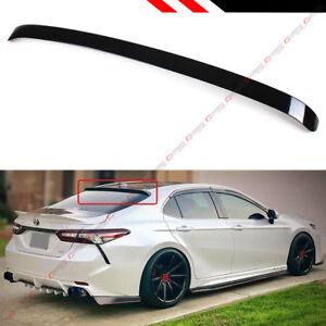 For 2018 19 Toyota Camry 8th Gen Sedan Vip Glossy Black Rear Window