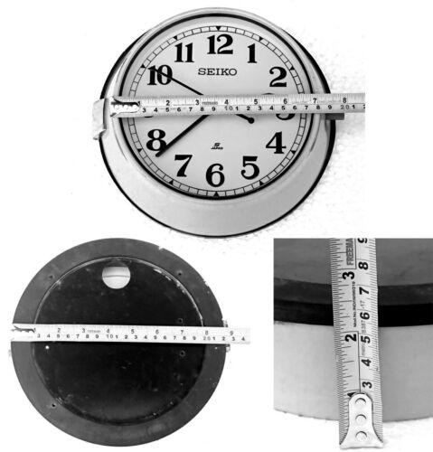 Vintage Blue Maritime Slave Clock White Dial Nautical Ship Quartz Seiko Japan