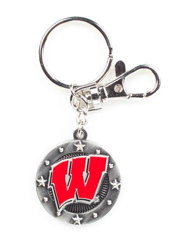 Wisconsin Badgers Impact Keychain