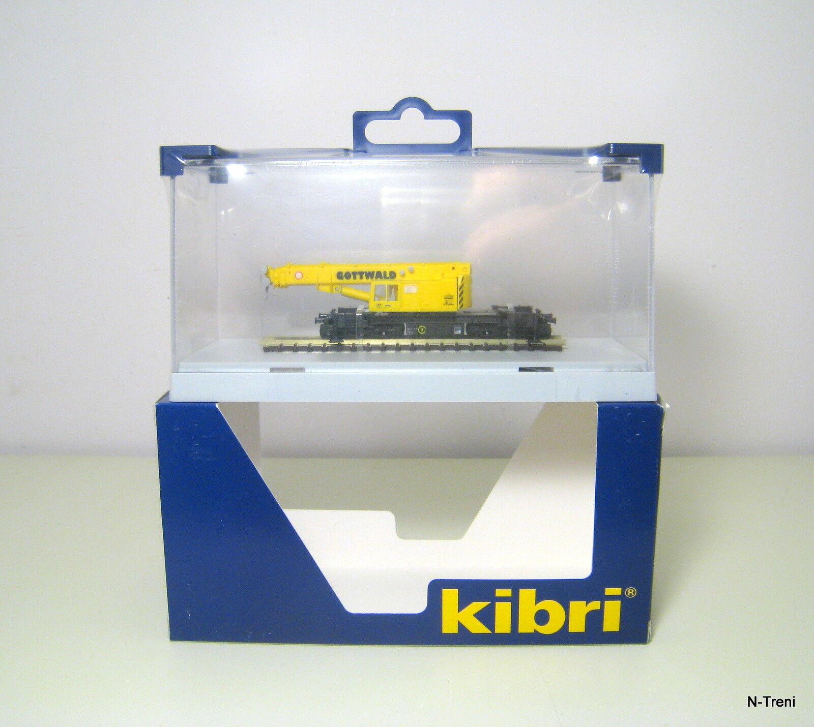 Kibri N 29600 - Gru ferroviaria telescopica GOTTWALD GS 100.06 T. Con espositore