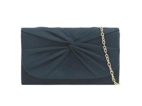 Pleated Suede Wedding Ladies Party Prom Evening Clutch Hand Bag Purse Hand Bag