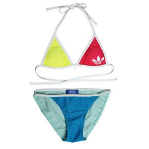 Ingenioso Comprensión En particular  adidas Originals Brazilia Bikini Blau Rot Gelb 2-Teiler Triangle Swimsuit |  eBay