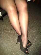 Señoras negras transparentes de trabajo/oficina Calzas (Talla L)