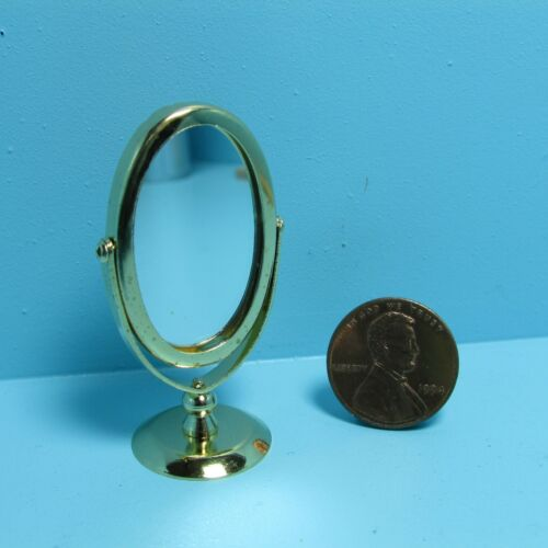 Dollhouse Miniature Pedestal Mirror for Bathroom or Bedroom ~ IM65625