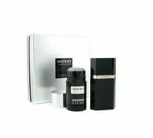 SILVER-BLACK-by-Azzaro-2-pc-Gift-Set-1-7-oz-edt-Men-Cologne-with-Deodorant-NIB
