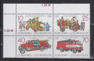 DDR388-EAST-GERMANY-DDR-1987-FIRE-ENGINES-BLOCK-MNH