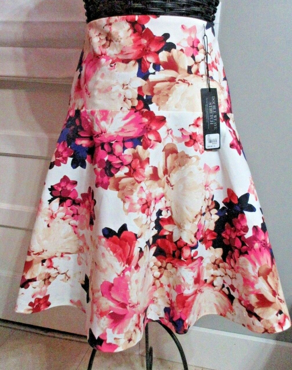 Lane Bryant WOMENS SKIRT SIZE 22 Double Weave Stretch FLORAL Skirt NEW W TAGS