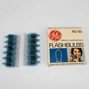 Vintage GE Set of Twelve Flashbulbs AG-1B