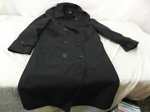 US-Army-Dress-Uniform-Black-Trench-Overcoat-All-Weather-ASU-Coat-Jacket-8S-WOMEN