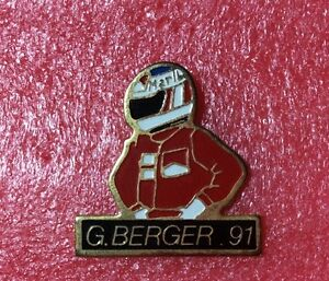 Pins-Gerhard-BERGER-Pilote-Automobile-Formule-1-F1