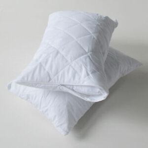 Matelasse-Oreiller-Protecteur-Pack-de-4-Les-taies-d-039-oreiller-avec-zip-de-fermeture