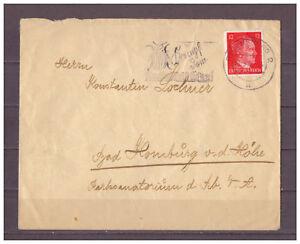 Empire-Allemand-Minr-827-Regensburg-apres-Bad-Homburg-22-09-1943-Wst