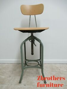 Miraculous Details About Vintage Toledo Industrial Tall Counter Swivel Bar Stool Chair D Short Links Chair Design For Home Short Linksinfo