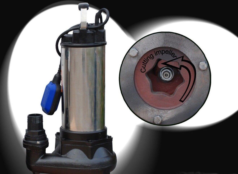 Tauchpumpe Schmutzwasserpumpe Fäkalienpumpe Schneidwerk Cutter Baupumpe