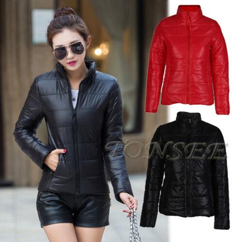 New Fashion Winter Warm Jacket Women/'s Down Cotton Padded Casual Basic Jackets