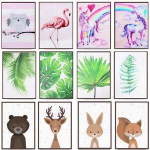 Cartoon-Animal-Plant-Canvas-Poster-Nordic-Art-Prints-Baby-Kids-Room-Wall-Decor