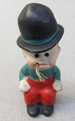 MICKEY McGUIRE Toonerville Trolly 1930s German Nodder bisque figure BLACK HAT