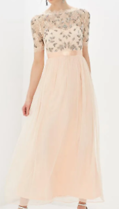 Frock-And-Frill-Blush-Short-Sleeved-Lace-Top-Dress-Ladies-Size-UK-10-S-REF161