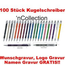 100 STÜCK/ Set  METALL KUGELSCHREIBER mit Gravur im Preis. Keine kosten mehr