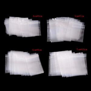 100pcs Clear Resealable Plastic Zip lock Small Ziplock Bags  BG
