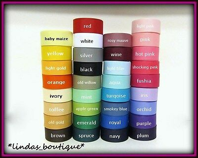 "5 YARD 1COLOR 3/8"" 5/8"" 7/8"" 1 1/2"" 2 1/4"" SOLID GROSGRAIN RIBBON HAIRBOW CRAFTS"