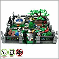 LEGO MOC Town Garden - CUSTOM Model - PDF Instructions Manual