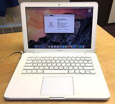 "Apple Macbook Late 2009 13"" Unibody White 2GB 120GB Core 2 Duo 2.26GHz OSX 10.10"
