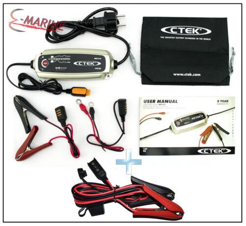 CTEK MXS 5.0 Chargeur 12V 5A Compensation températ COMFORT INDICATOR CLAMPS