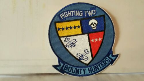 Navy Fighting Two Bounty Color Patch 4 x 3 34 inches