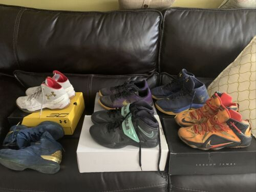 Lot Of 6 Basketball Shoes(READ DESCRIPTION)