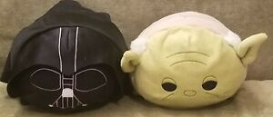 "Disney Star Wars 3"" Tsum Tsum Lot Boba Fett Darth Vader First Order Trooper NWT"