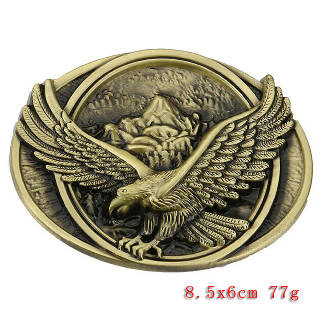 Cowboy Flying Bird Eagle Hawl Belt Buckle Country Western Rodeo Jeans Decor