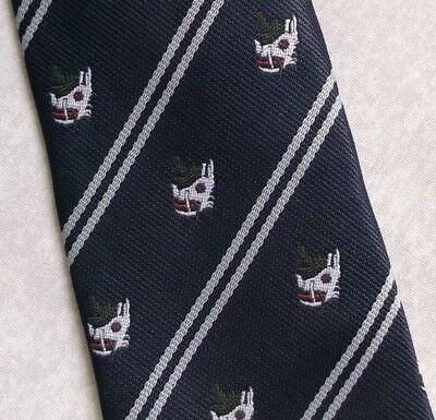 Bello Vintage Cravatta Da Uomo Cravatta Crested Club Associazione Società A Righe-mostra Il Titolo Originale